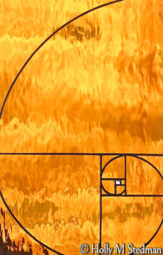 Golden ratio stained glass panel